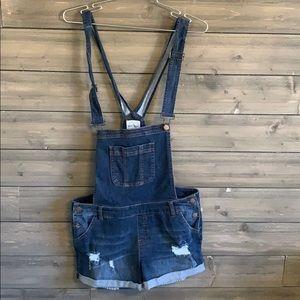 Wax Jean short overalls